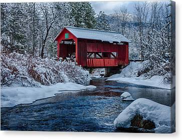 Northfield Vermont Covered Bridge Canvas Print