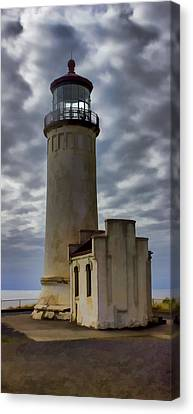North Head Lighthouse Canvas Print by Cathy Anderson