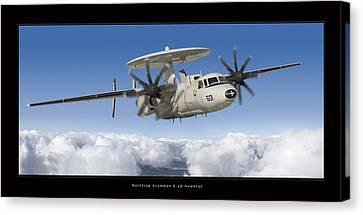 Northrop Grumman E-2d Hawkeye Canvas Print by Larry McManus