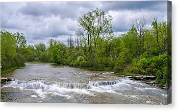 Northrup Road Waterfalls 2158 Canvas Print by Guy Whiteley