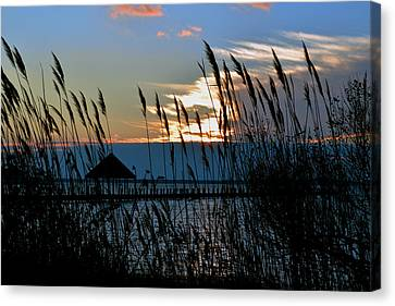 Canvas Print featuring the photograph Ocean City Sunset At Northside Park by Bill Swartwout