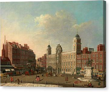 Northumberland House, London, Attributed To William James Canvas Print by Litz Collection