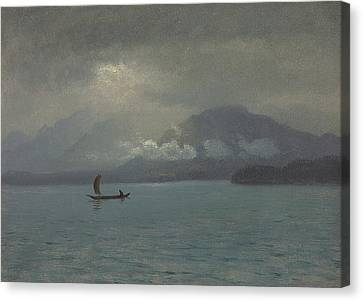 Northwest Coast Canvas Print by Albert Bierstadt