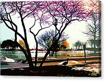 Northwestern U. Campus Canvas Print