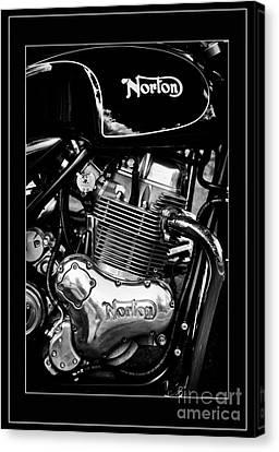 Norton Commando 961 Sport Monochrome Canvas Print by Tim Gainey
