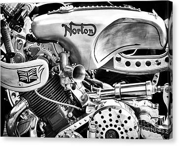Norton Custom Cafe Racer Monochrome Canvas Print