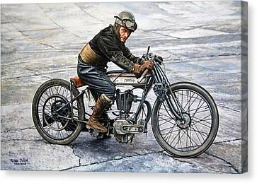 Norton Rider Canvas Print by Ruben Duran