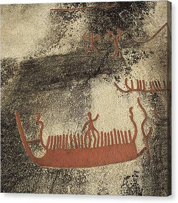 Norway. Begby. Boats 1000 Bc. Bronze Canvas Print by Everett