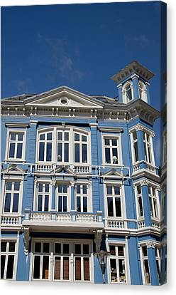 Norway, Bergen Historic Downtown Homes Canvas Print by Cindy Miller Hopkins
