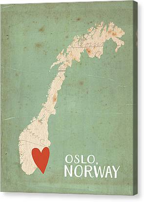 Oslo Canvas Print - Norway by Katie Doucette