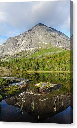 Norway Canvas Print - Norway Mountain Scenery Evening Light by Fredrik Norrsell