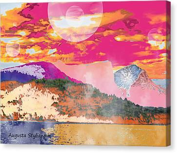 Norway Space Landscape Canvas Print