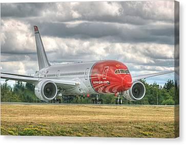 Norwegian 787 Canvas Print by Jeff Cook