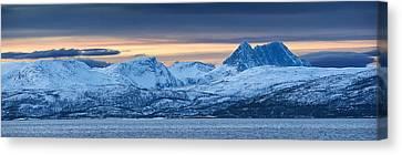 Norwegian Coast Canvas Print by Wade Aiken