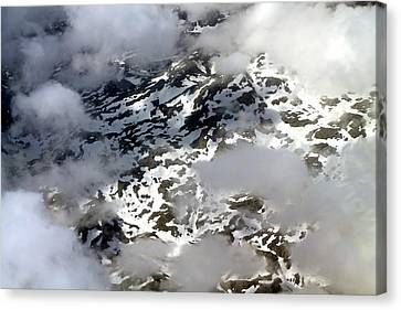 Norwegian Mountains From On High Canvas Print by Laurel Talabere