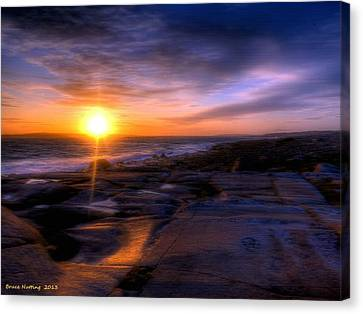 Norwegian Sunset Canvas Print by Bruce Nutting