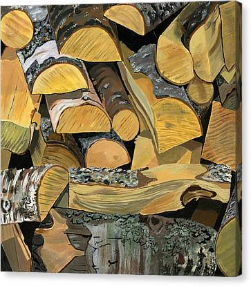 Norwegian Wood 1 Canvas Print by Jane Dunn Borresen