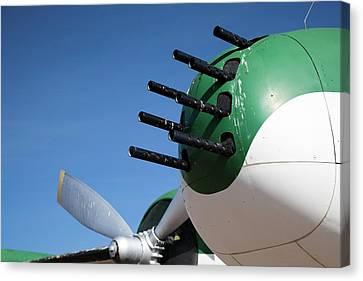 Nose-mounted Aeroplane Guns Canvas Print