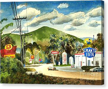 Loose Watercolor Canvas Print - Nostalgia Arcadia Valley 1985  by Kip DeVore