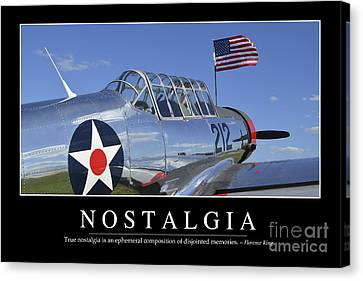 Vultee Bt-13 Valiant Canvas Print - Nostalgia Inspirational Quote by Stocktrek Images