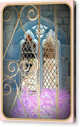 Nostalgic Church Window Canvas Print by The Creative Minds Art and Photography