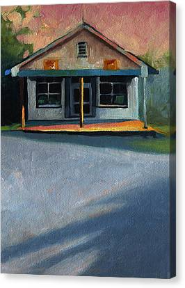 Nostalgic Icon Hucksteps Garage And Store Canvas Print by Catherine Twomey
