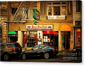 Hamburger Canvas Print - Nostalgic Sears Fine Food Restaurant San Francisco Dsc885brun by Wingsdomain Art and Photography