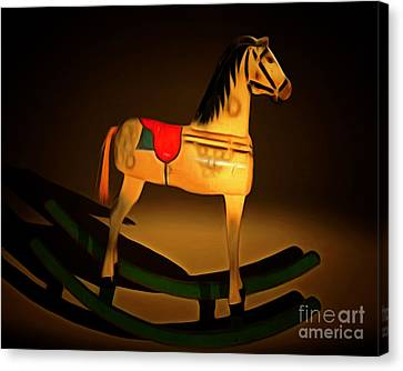 Nostalgic Vintage Seesaw Horse 20150226 Canvas Print by Wingsdomain Art and Photography