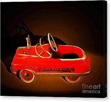 Nostalgic Vintage Toy Fire Engine 20150228 Canvas Print by Wingsdomain Art and Photography