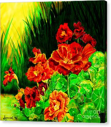 Nosturtiums Canvas Print by Synnove Pettersen