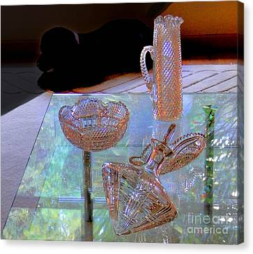 Not Depression Glass Canvas Print by Al Bourassa