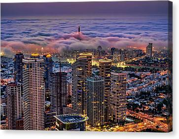 Canvas Print featuring the photograph Not Hong Kong by Ron Shoshani