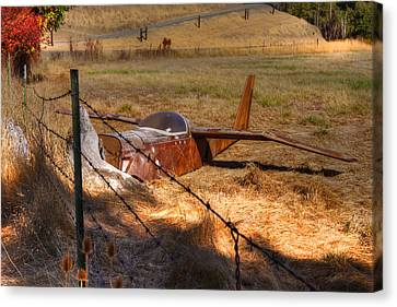Old Country Roads Canvas Print - Not Ready For Takeoff by Kandy Hurley