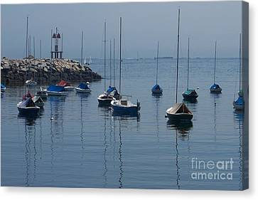 Canvas Print featuring the photograph Sail Boats  by Eunice Miller
