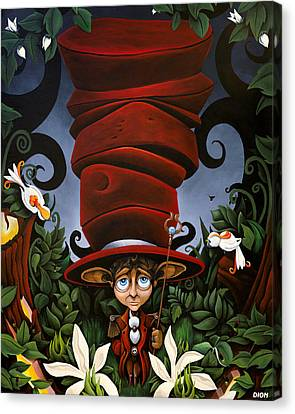 Not So Mad Hatter Canvas Print by Dion Weichers
