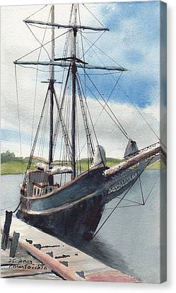 Bluenose Canvas Print - Not The Bluenose by Peter Martocchio