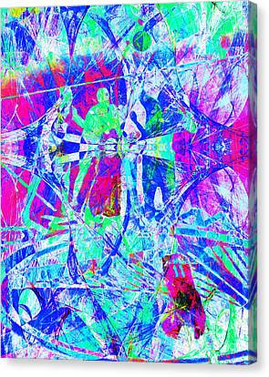 Nothing But Net The Tip Off 20150310inv Canvas Print by Wingsdomain Art and Photography