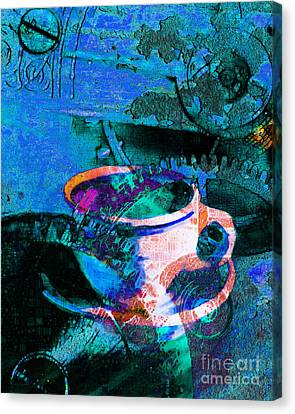 Kitschy Canvas Print - Nothing Like A Hot Cuppa Joe In The Morning To Get The Old Wheels Turning 20130718p168 by Wingsdomain Art and Photography