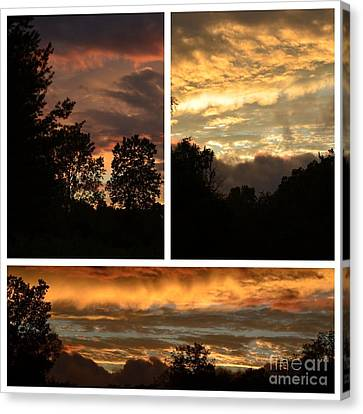 Nothing Like A Sunset  Canvas Print