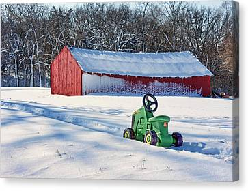 Nothing Runs Like A Deere #1 Canvas Print by Nikolyn McDonald