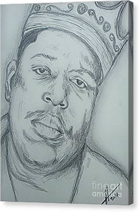 Notorious Big Art Canvas Print by Collin A Clarke