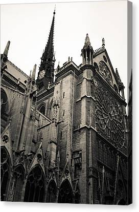 Notre Dame - For Eugene Atget Canvas Print