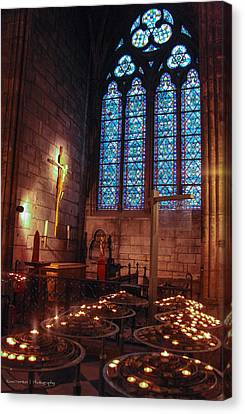 Notre Dame Candles Canvas Print