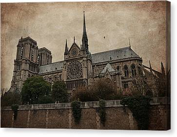 Notre Dame Cathedral - Paris Canvas Print by Maria Angelica Maira