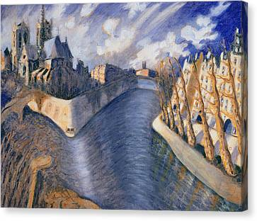 Notre Dame Cathedral Canvas Print by Charlotte Johnson Wahl