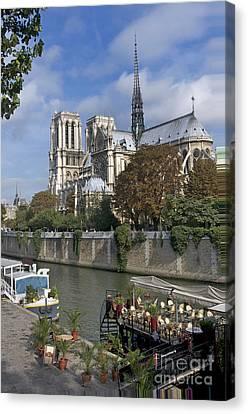 Notre Dame Cathedral. Paris Canvas Print by Bernard Jaubert
