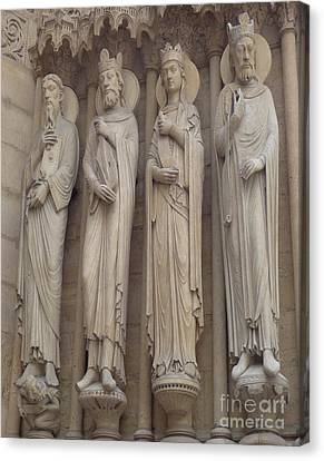 Canvas Print featuring the photograph Notre Dame Cathedral Saints by Deborah Smolinske