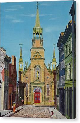 Notre Dame De Bonsecours Canvas Print