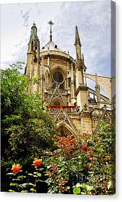 Notre Dame De Paris Canvas Print by Elena Elisseeva
