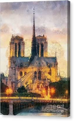 Notre Dame De Paris Canvas Print by Mo T